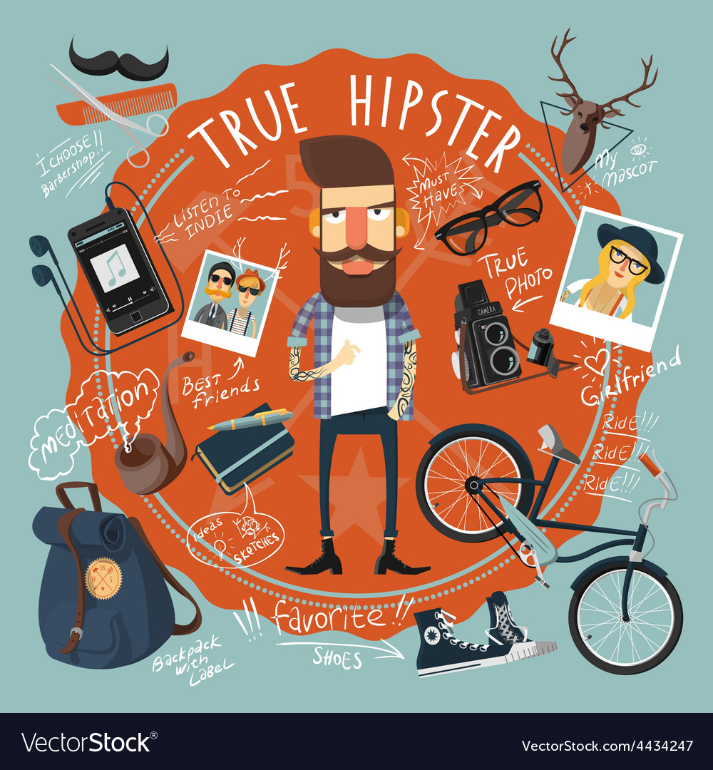 Hipster concept seal icon vector | Price: 1 Credit (USD $1)