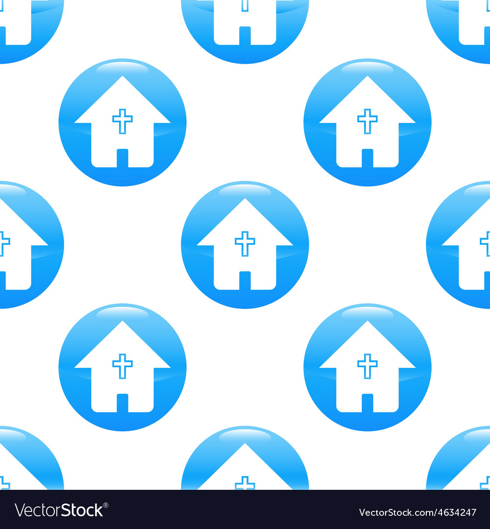 Hous with cross sign pattern vector | Price: 1 Credit (USD $1)