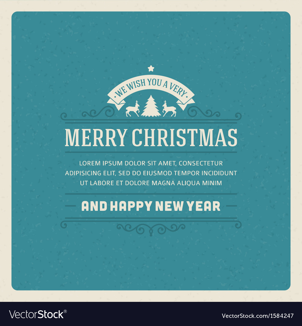 Merry christmas invitation card vector | Price: 1 Credit (USD $1)