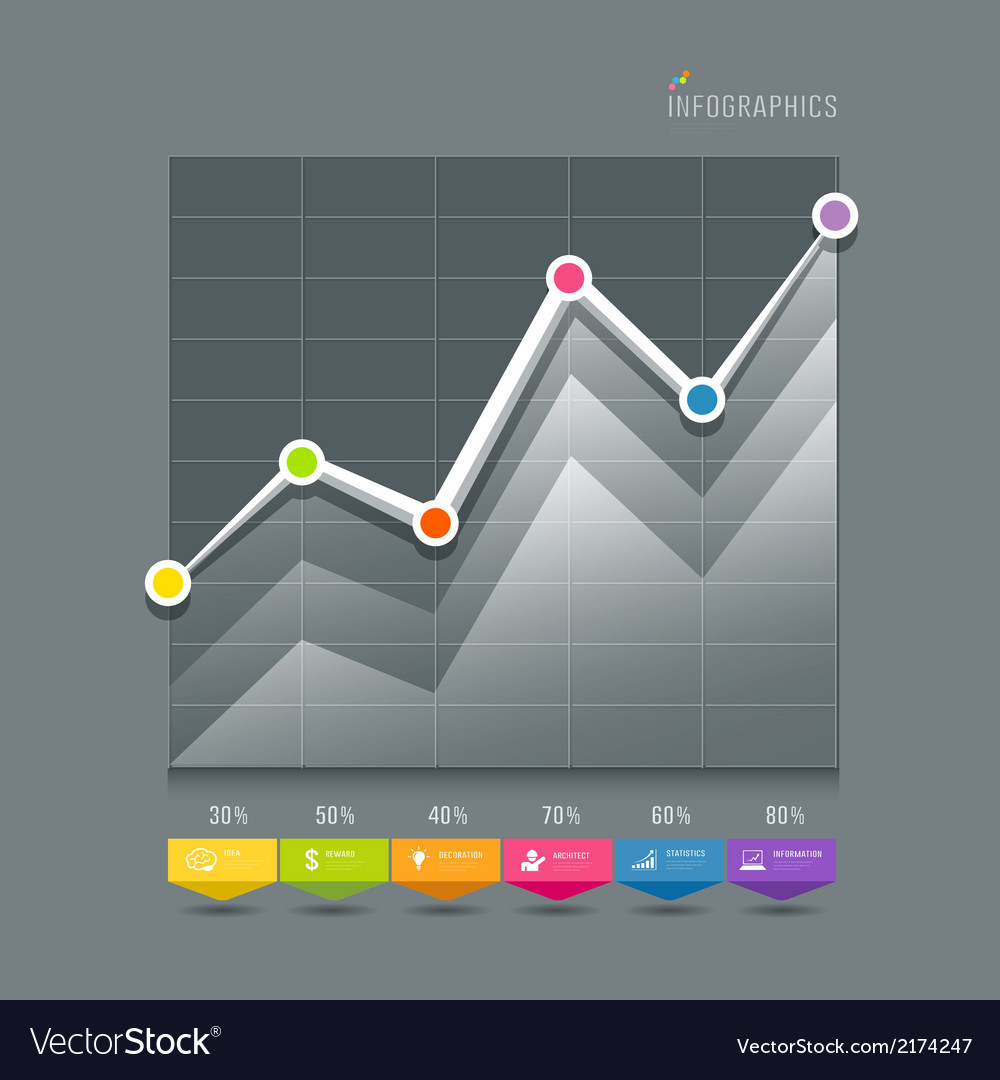 Modern graphs info-graphic and icons vector | Price: 1 Credit (USD $1)
