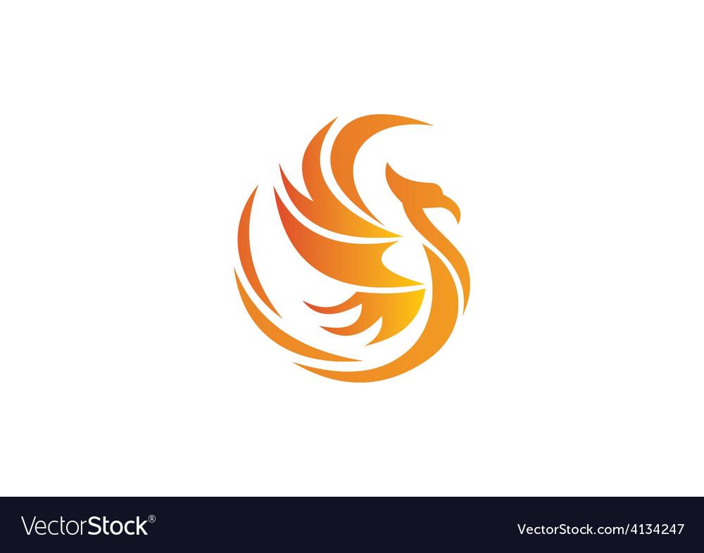 Phoenix bird abstract logo vector | Price: 1 Credit (USD $1)
