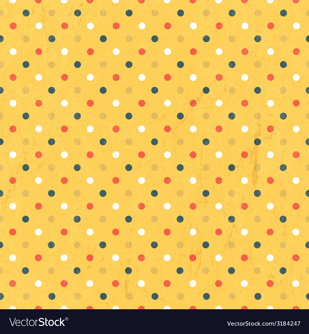 Seamless polka dots colorful vector | Price: 1 Credit (USD $1)