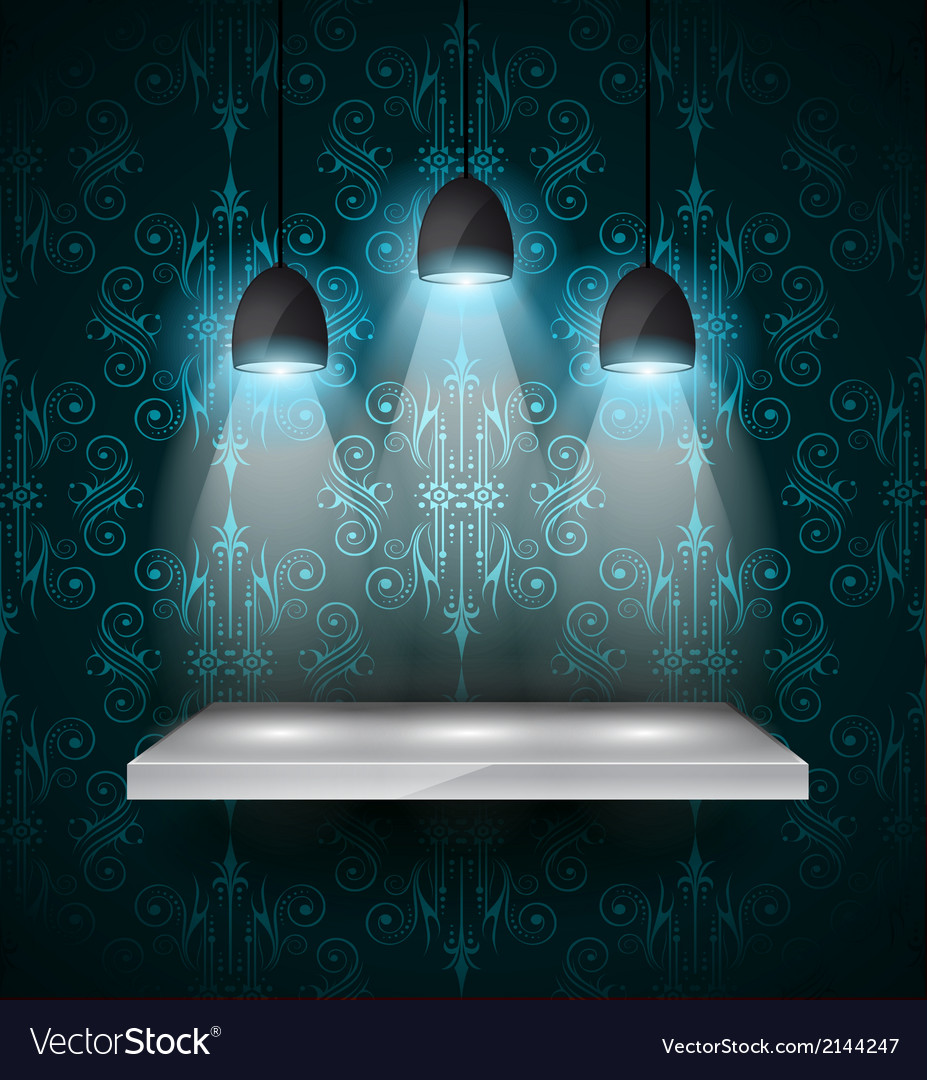 Shelf with 3 spotlights lamp with directional vector | Price: 1 Credit (USD $1)