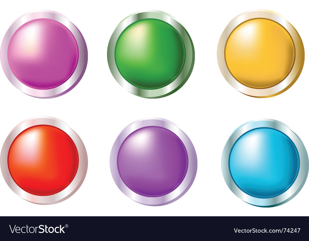 Smooth shiny buttons vector   Price: 1 Credit (USD $1)