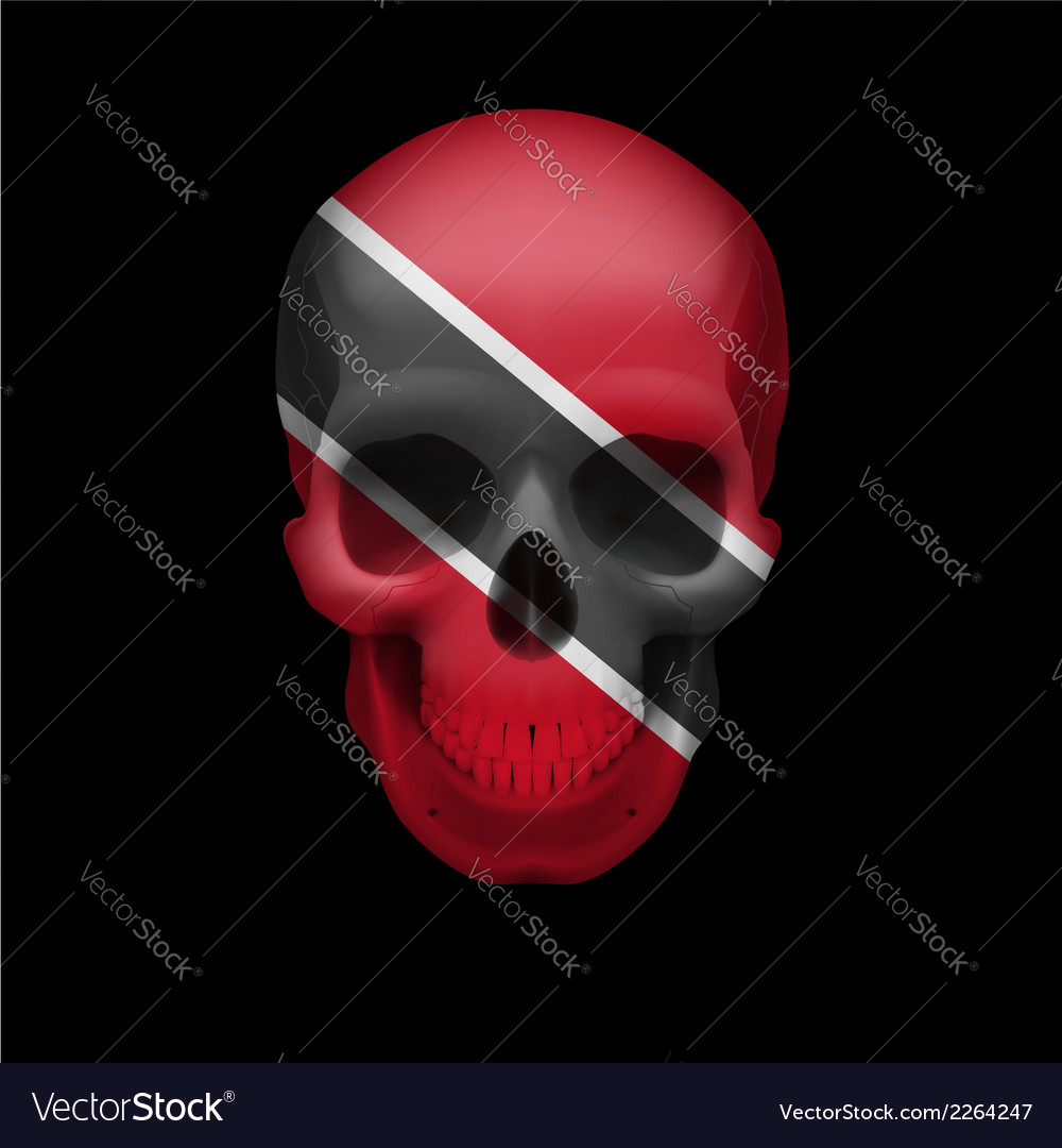 Trinidad and tobago flag skull vector | Price: 1 Credit (USD $1)