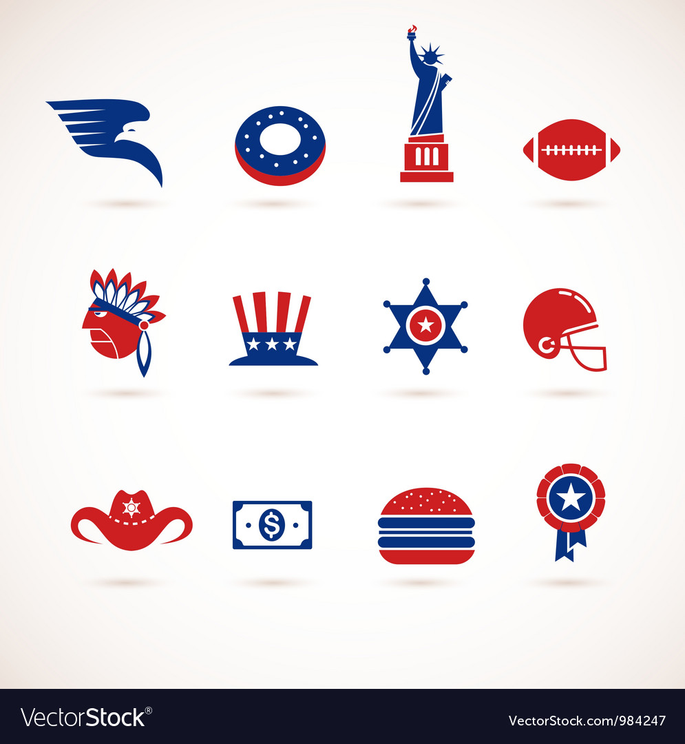 Usa - collection of icons vector | Price: 3 Credit (USD $3)