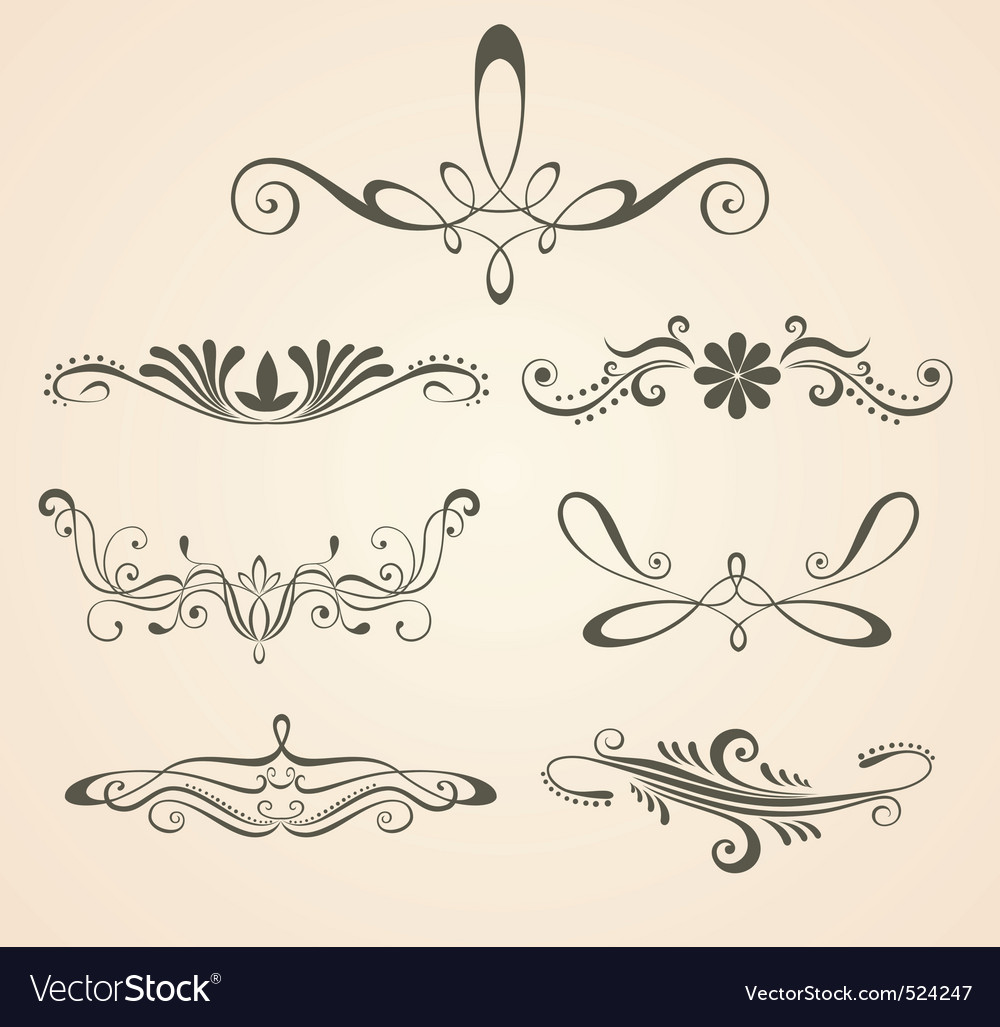 Vintage scrolls  design eleme vector | Price: 1 Credit (USD $1)