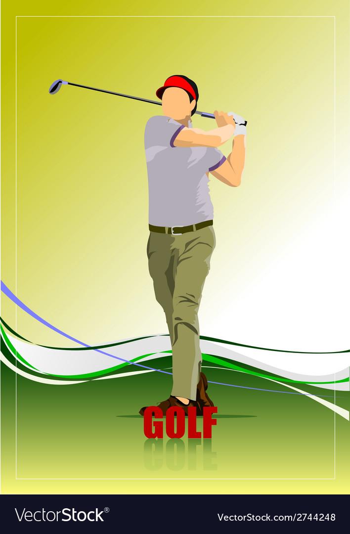 Al 0612 golfer 04 vector | Price: 1 Credit (USD $1)