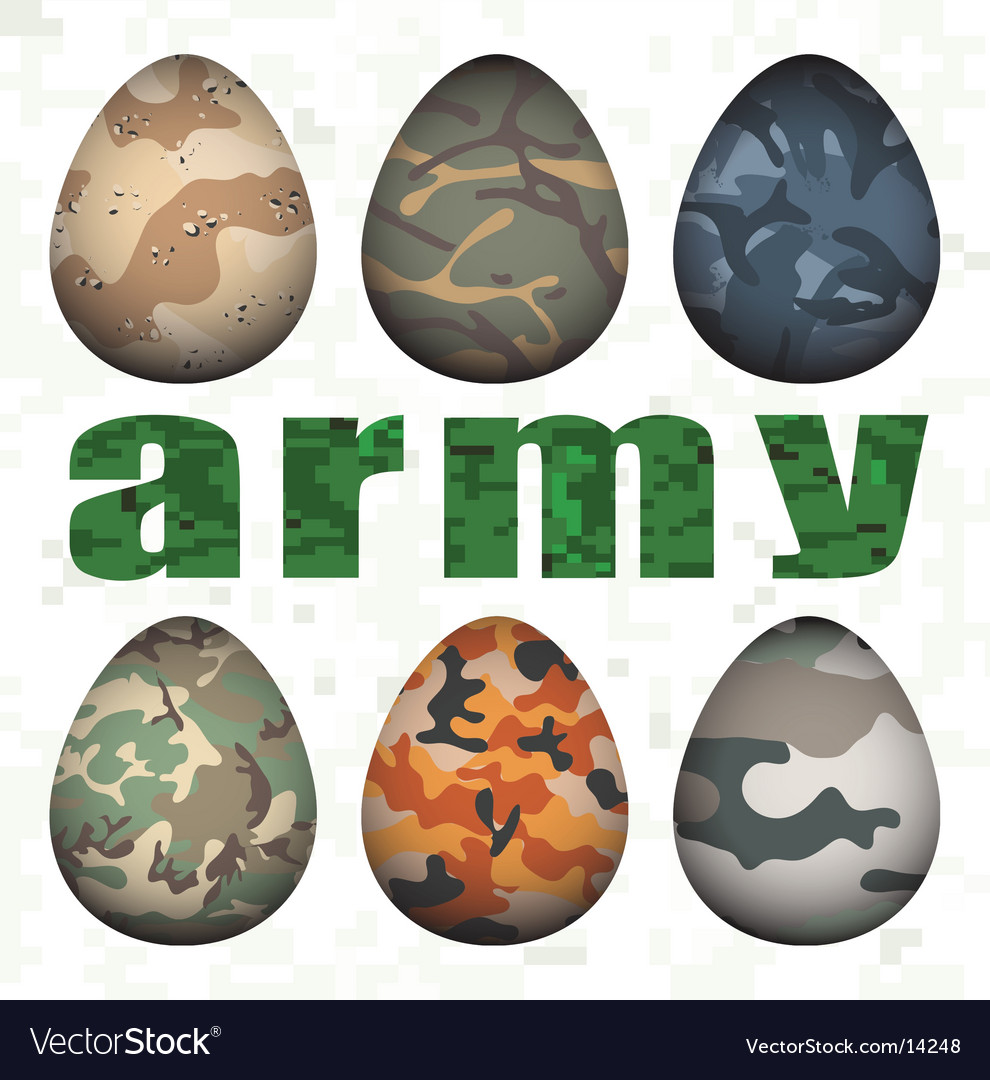 Army eggs vector | Price: 1 Credit (USD $1)