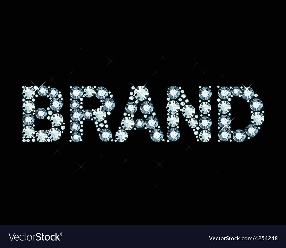 Diamond word brand vector | Price: 1 Credit (USD $1)