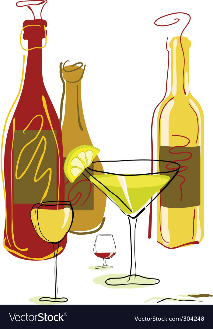 Drinks and cocktails vector | Price: 1 Credit (USD $1)