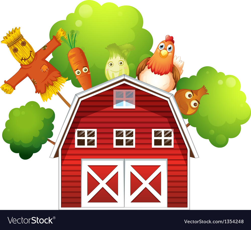 Farm barn produce vector | Price: 1 Credit (USD $1)