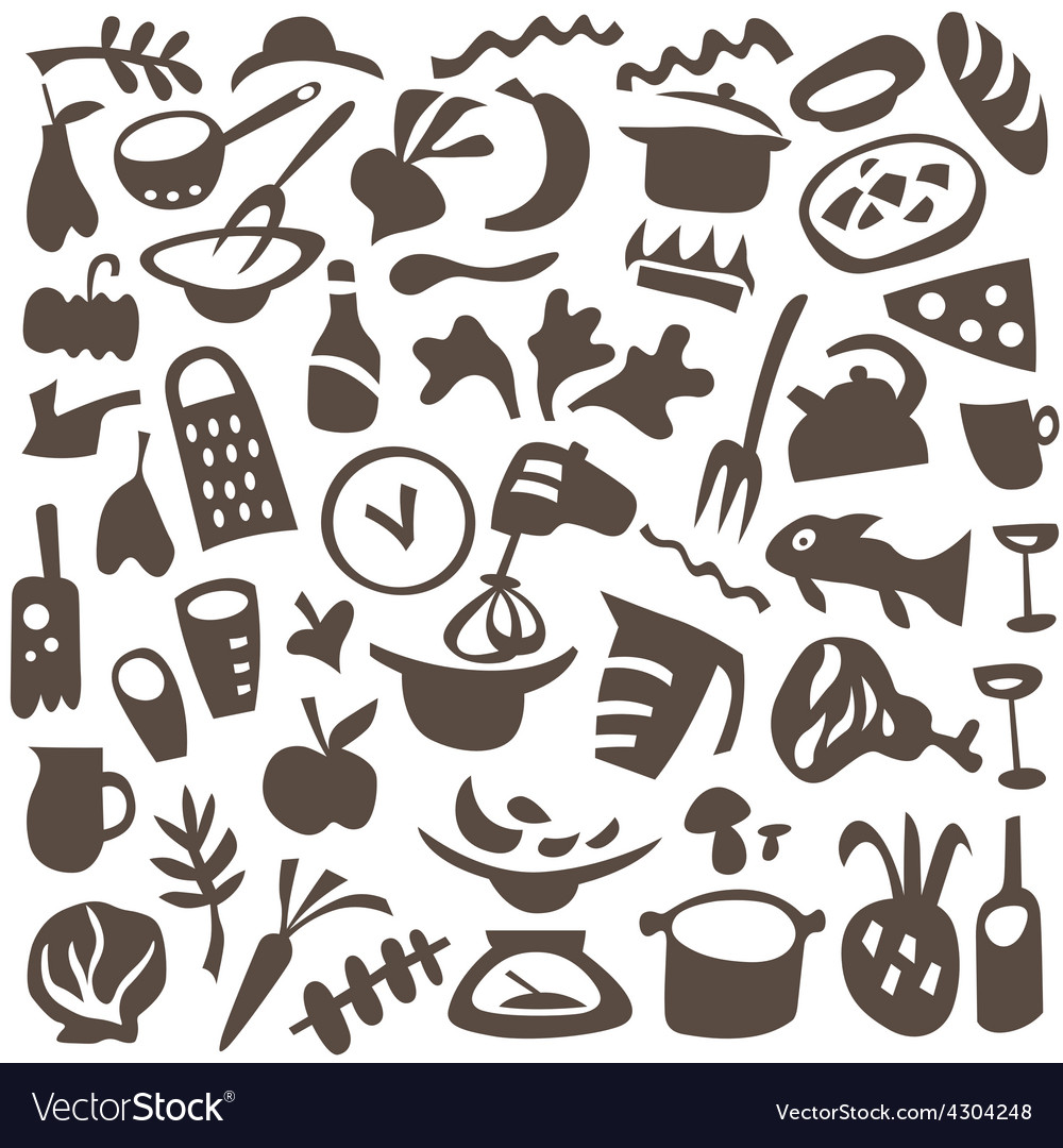 Food cookery icons vector | Price: 1 Credit (USD $1)