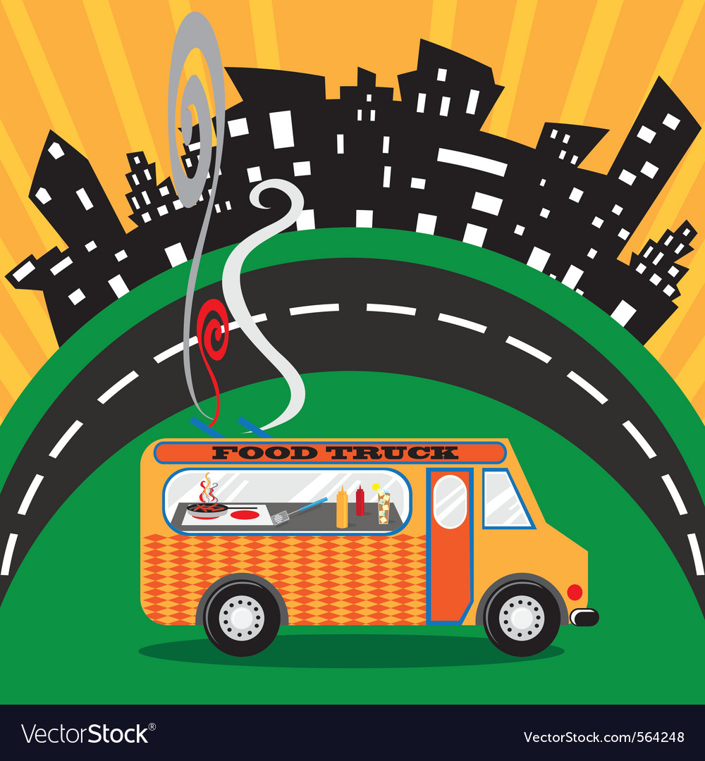 Gastro food truck vector | Price: 1 Credit (USD $1)