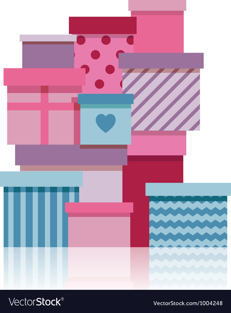 Gift boxes pile vector | Price: 1 Credit (USD $1)