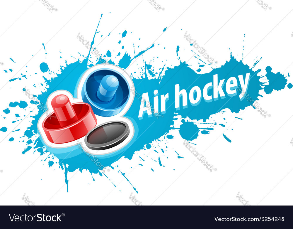 Mallets and puck for air vector | Price: 1 Credit (USD $1)