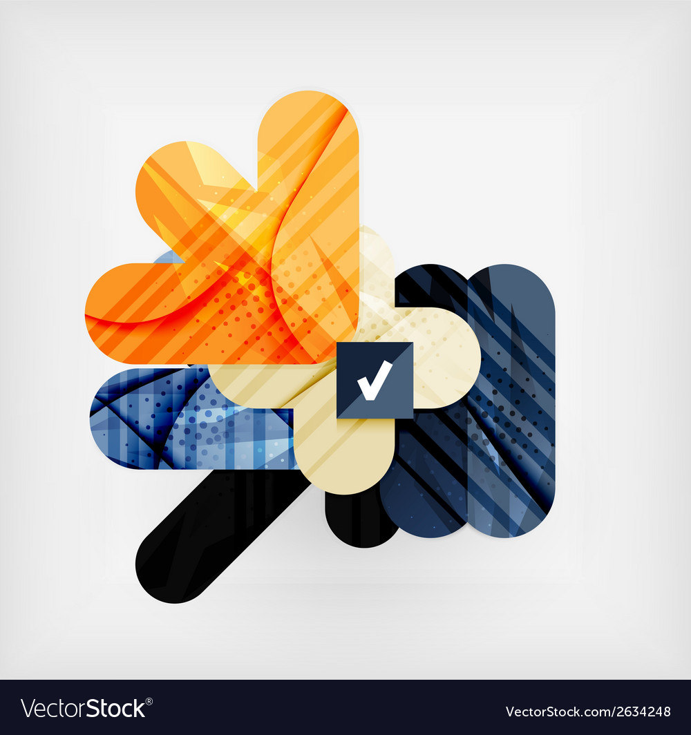 Modern web presentation design layout vector | Price: 1 Credit (USD $1)