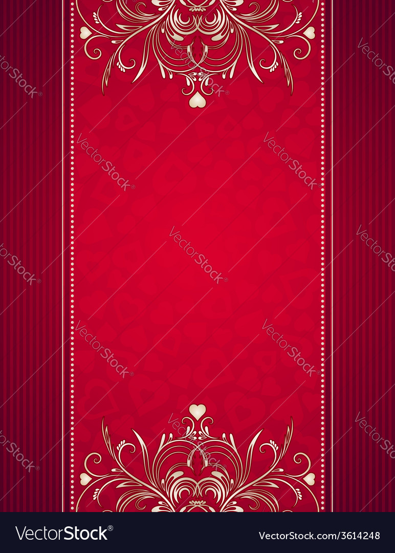 Red background with hearts vector | Price: 1 Credit (USD $1)