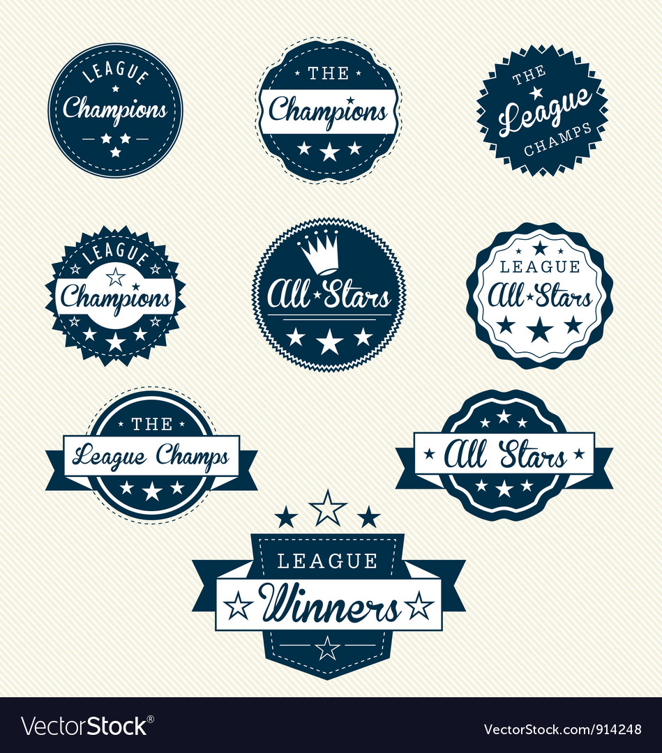 Vintage sports labels vector | Price: 1 Credit (USD $1)