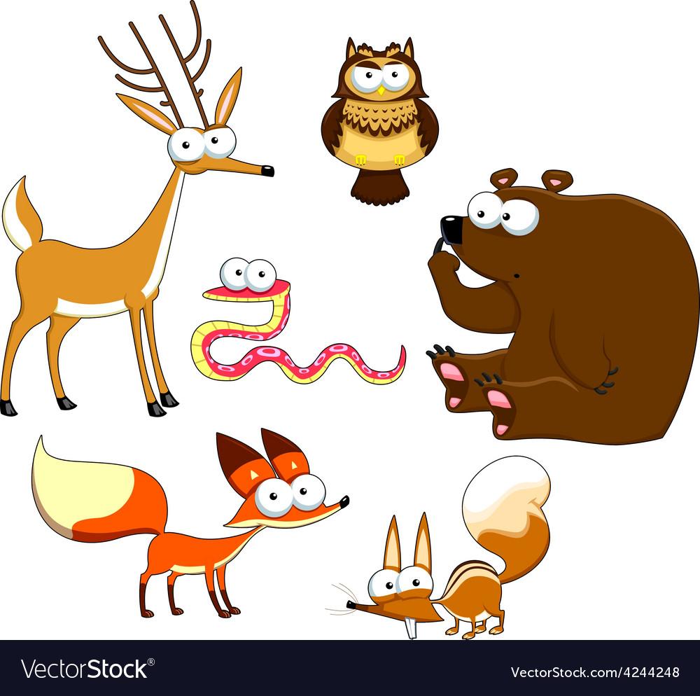 Wood animals vector | Price: 1 Credit (USD $1)