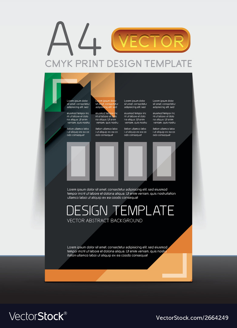 Abstract flyer brochure design vector | Price: 1 Credit (USD $1)