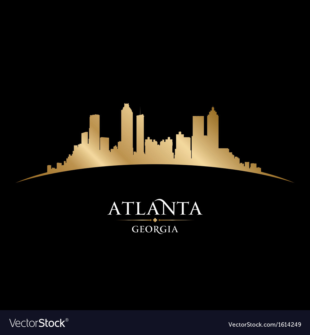 Atlanta georgia city skyline silhouette vector | Price: 1 Credit (USD $1)