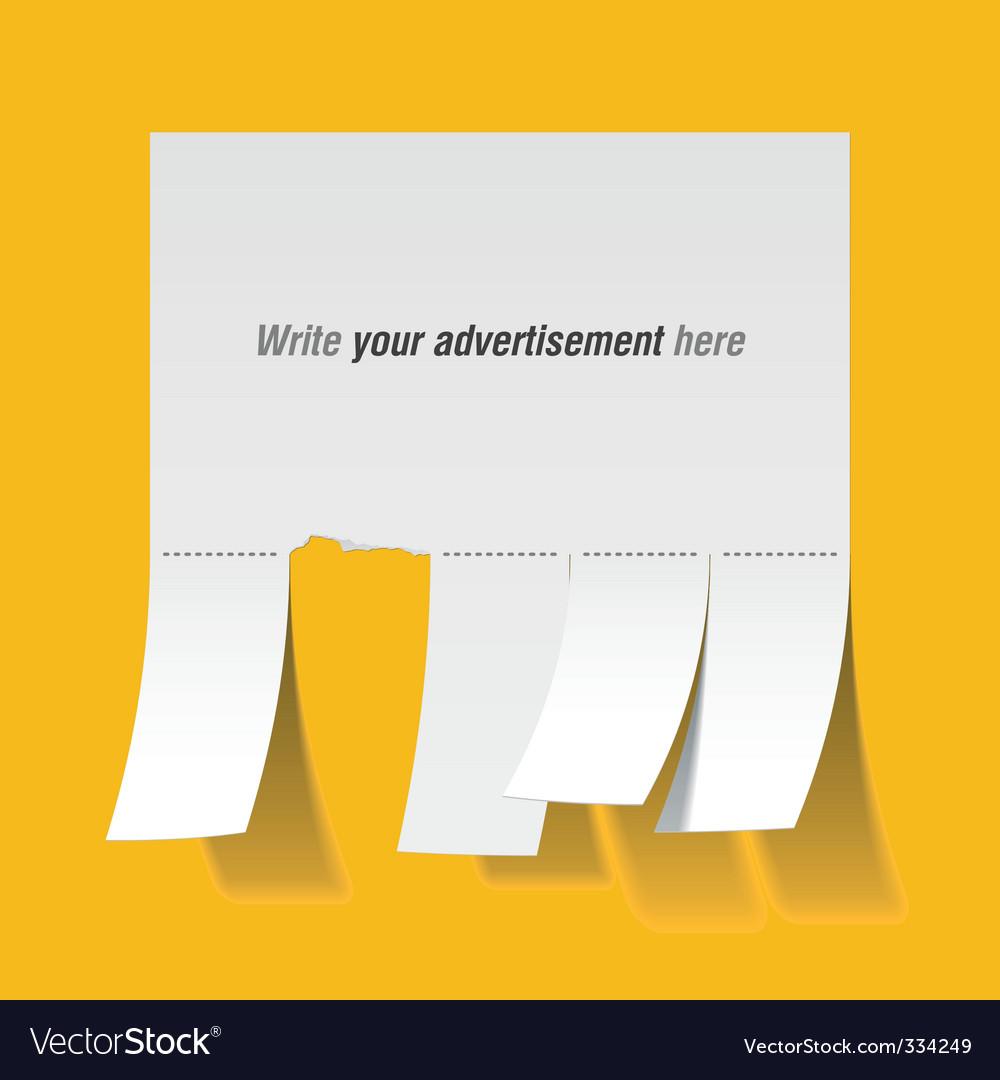 Blank advertisement vector   Price: 3 Credit (USD $3)
