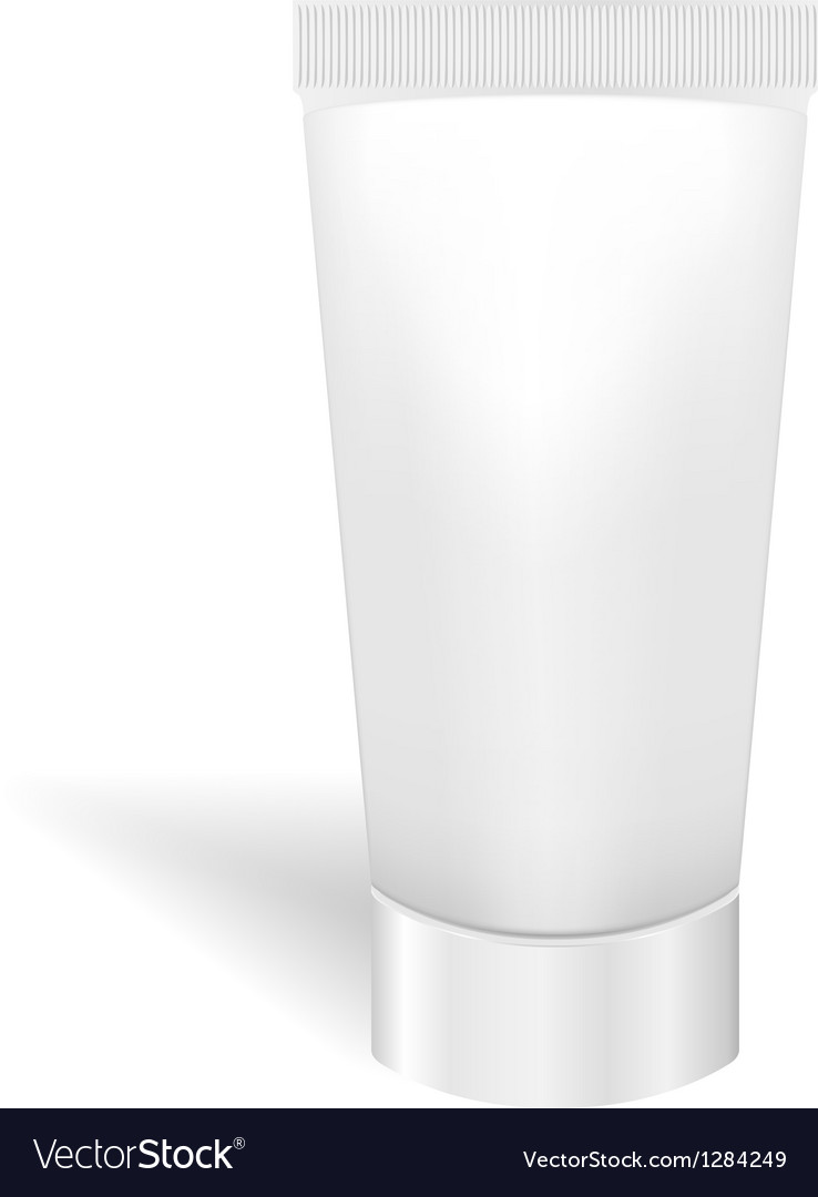 Blank white tube for cream or gel packaging for vector | Price: 1 Credit (USD $1)
