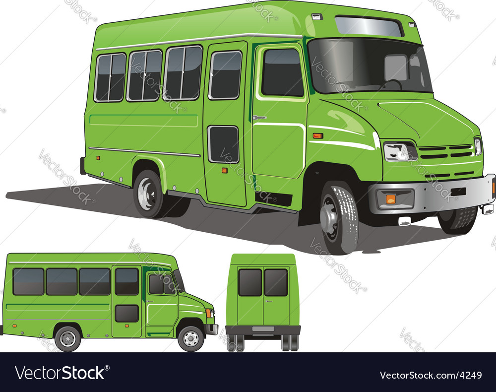 City mini bus vector | Price: 3 Credit (USD $3)