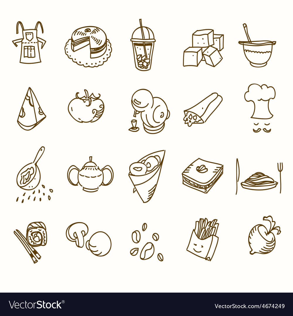 Food cafe set morning breakfast lunch or dinner vector | Price: 1 Credit (USD $1)
