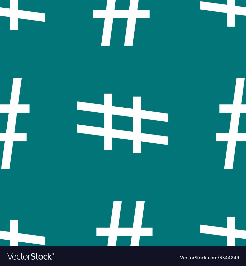 Hesh tag web icon flat design seamless pattern vector | Price: 1 Credit (USD $1)