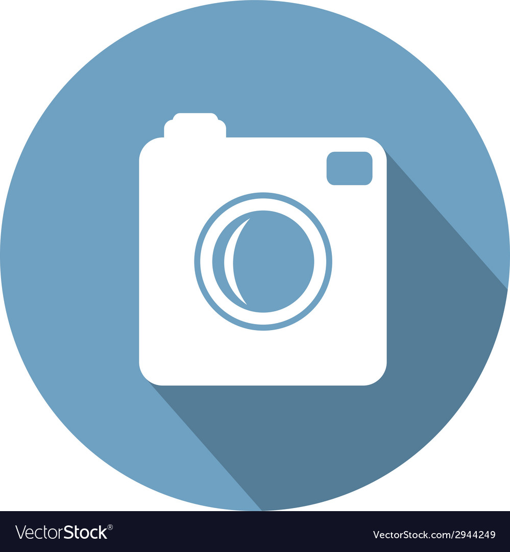 Hipster photo camera icon with long shadow vector | Price: 1 Credit (USD $1)