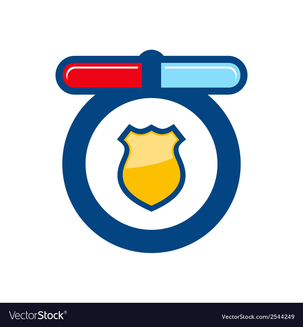Police sign vector | Price: 1 Credit (USD $1)