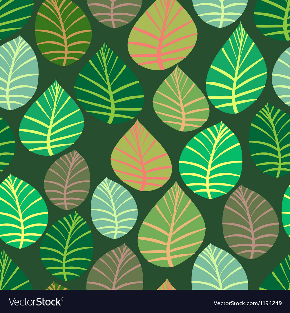 Seamless the leaves and branches vector | Price: 1 Credit (USD $1)