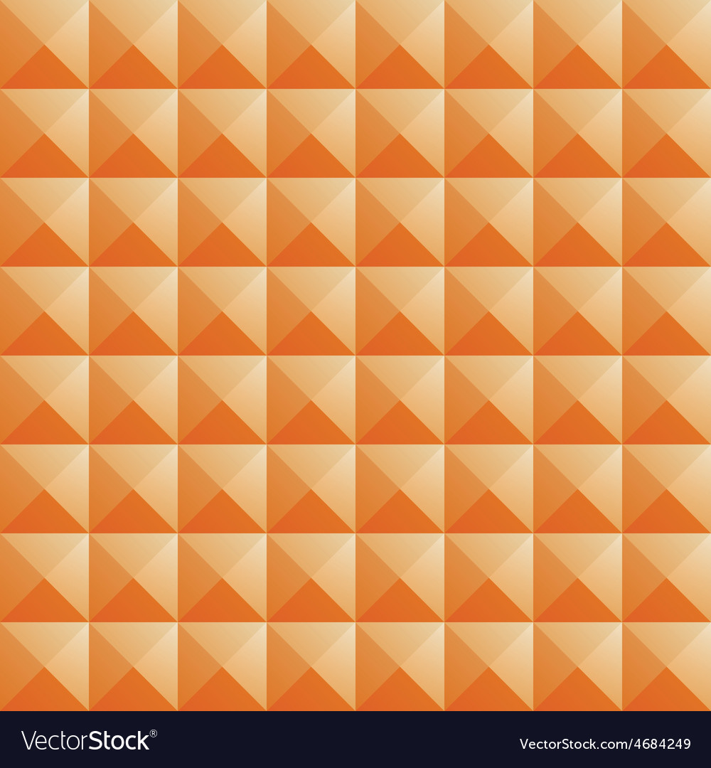 Triangle orange jewel texture seamless background vector | Price: 1 Credit (USD $1)