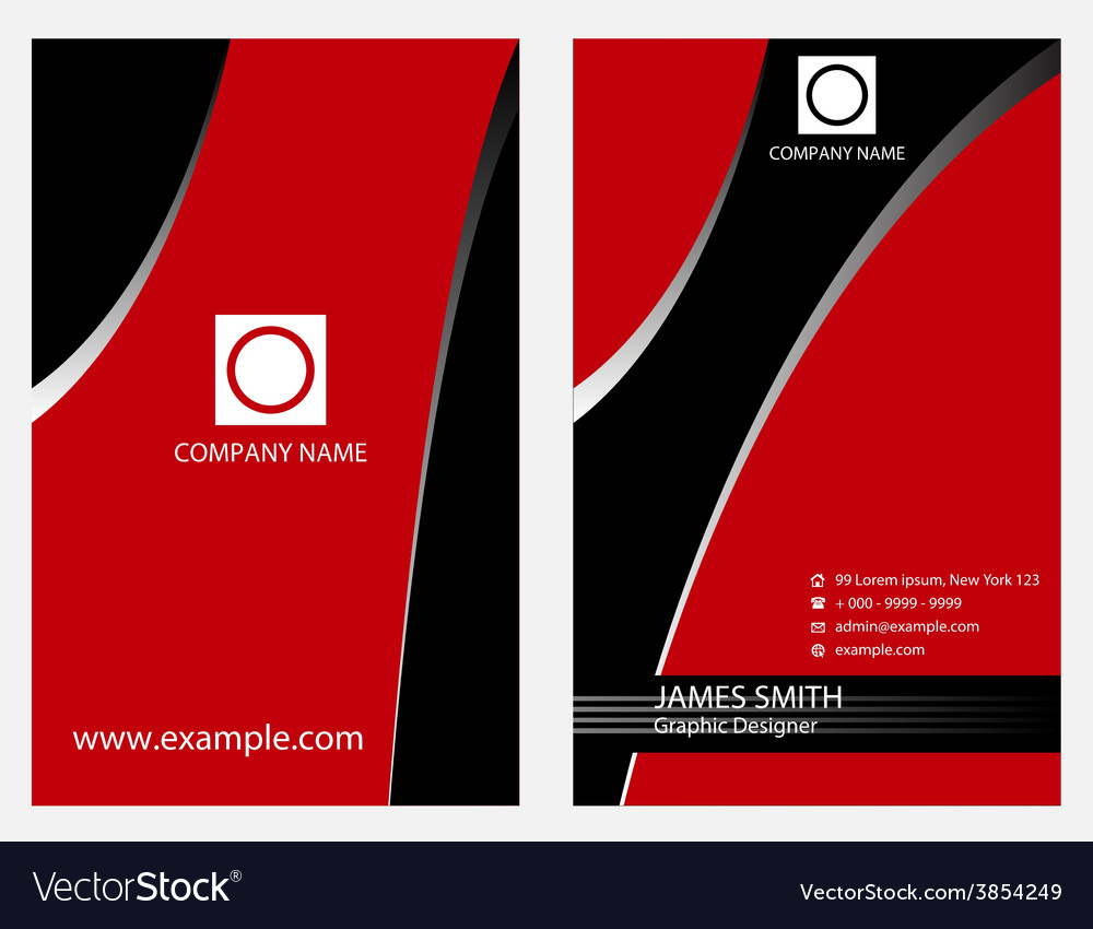 Vertical business card vector | Price: 1 Credit (USD $1)