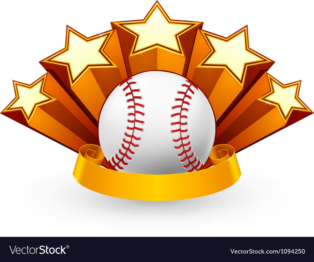 Baseball emblem vector | Price: 1 Credit (USD $1)
