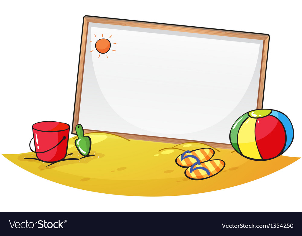 Beach empty board vector | Price: 1 Credit (USD $1)