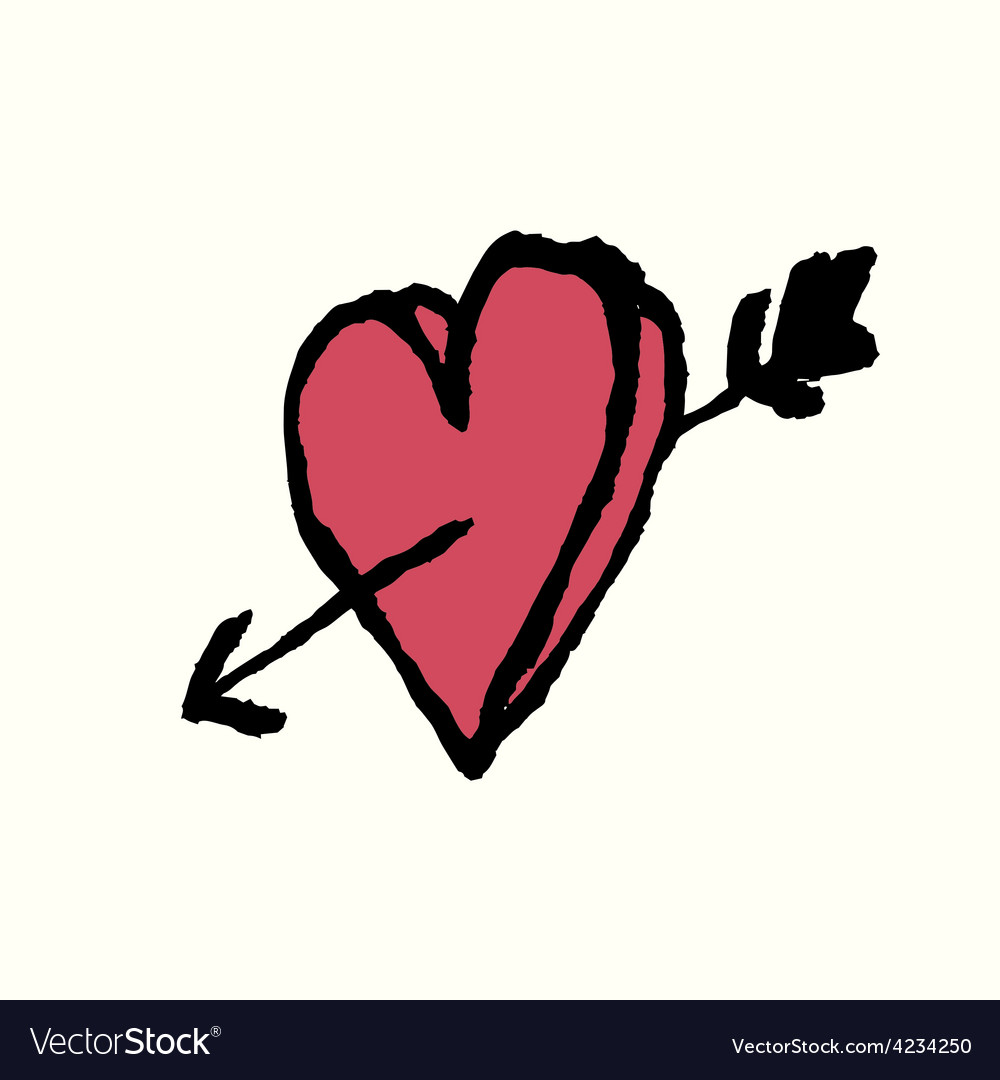 Heart arrow vector | Price: 1 Credit (USD $1)