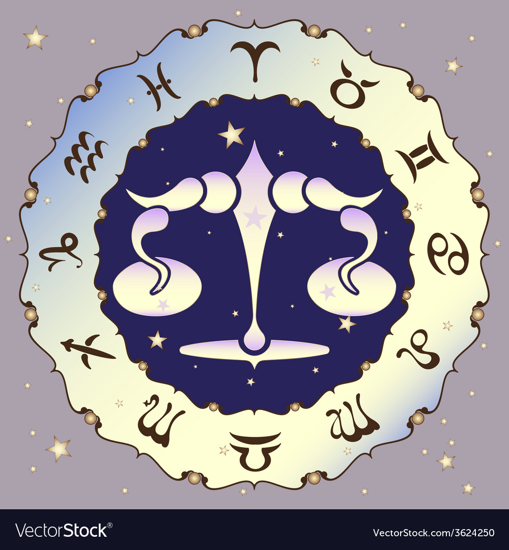 Libra zodiac sign vector | Price: 1 Credit (USD $1)
