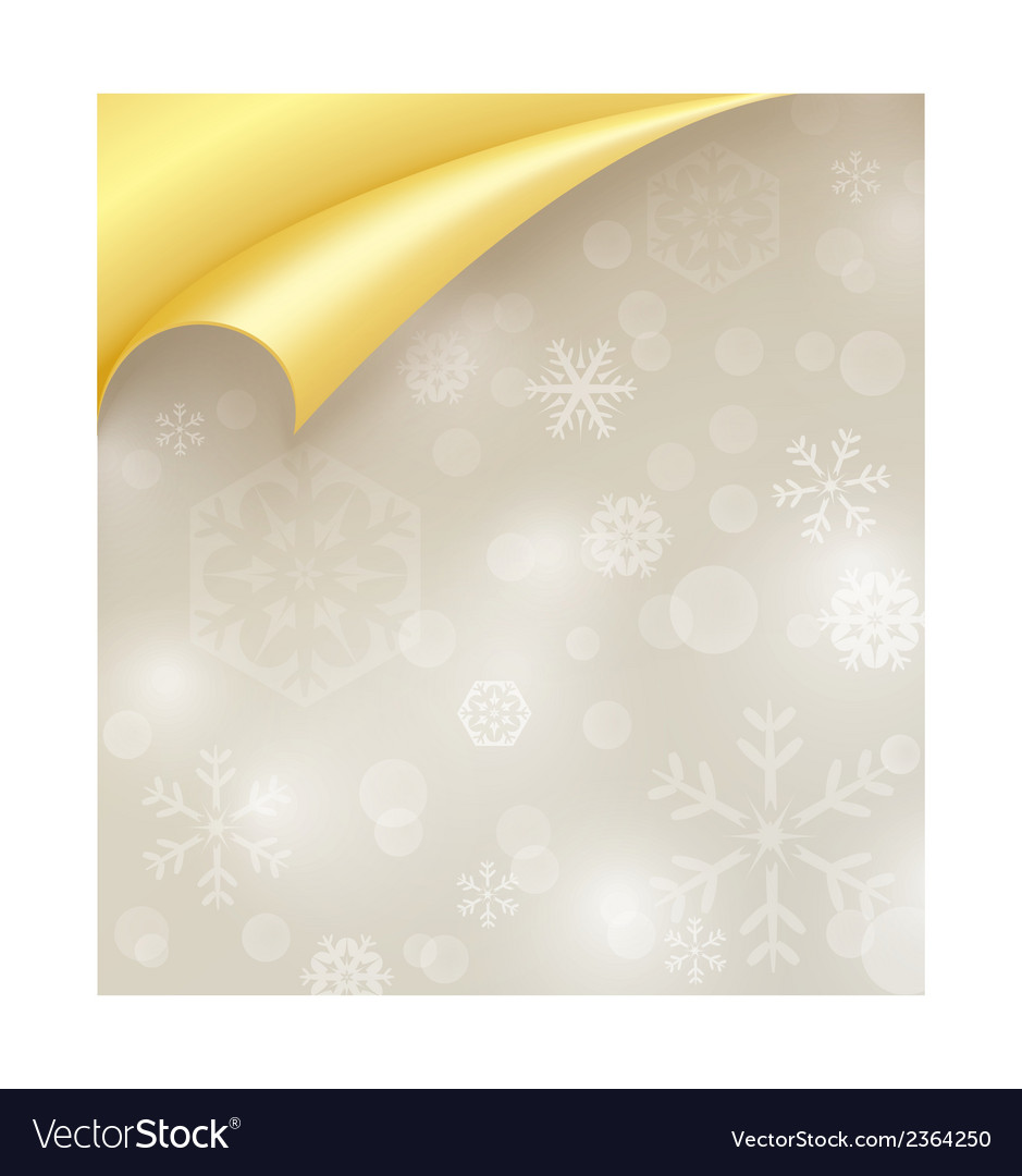 Light paper with snowflake texture and curled vector | Price: 1 Credit (USD $1)