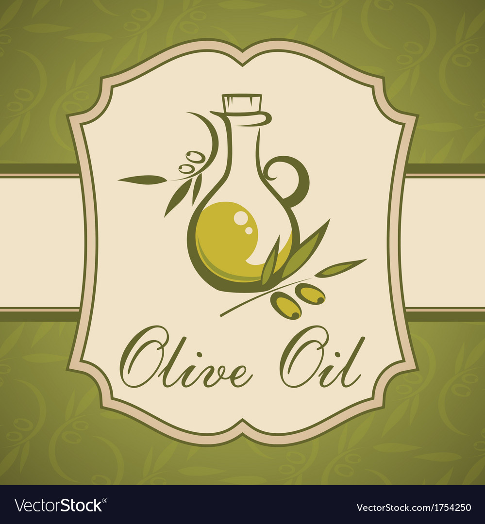 Olive oil vintage label vector | Price: 1 Credit (USD $1)