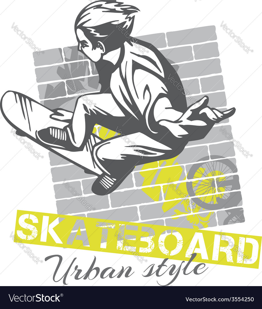 Skateboarding - urban style vector | Price: 1 Credit (USD $1)