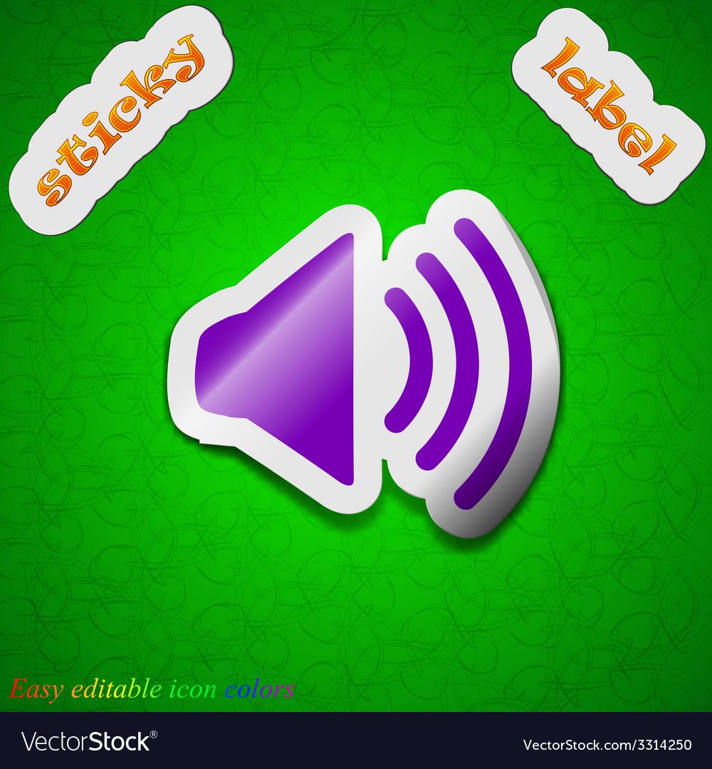 Speaker volume icon sign symbol chic colored vector | Price: 1 Credit (USD $1)