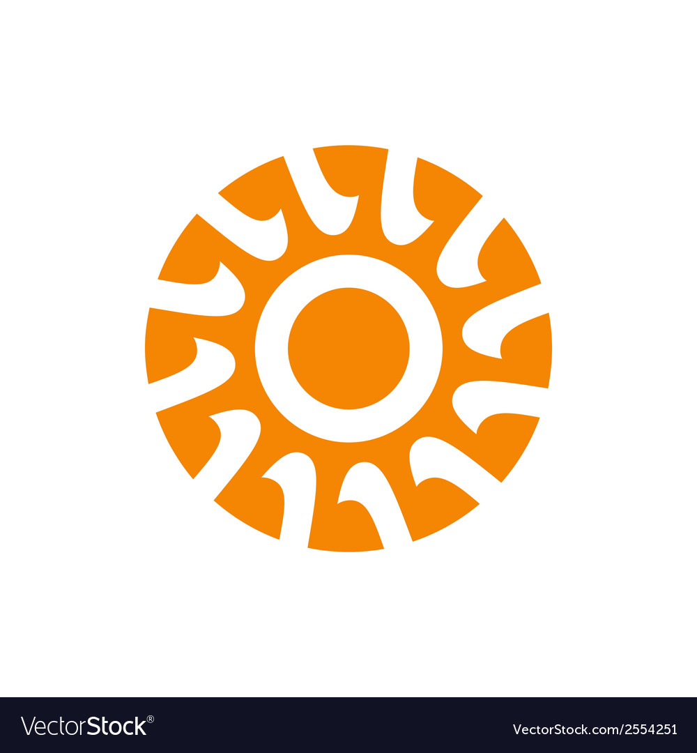Abstract sun sign vector | Price: 1 Credit (USD $1)