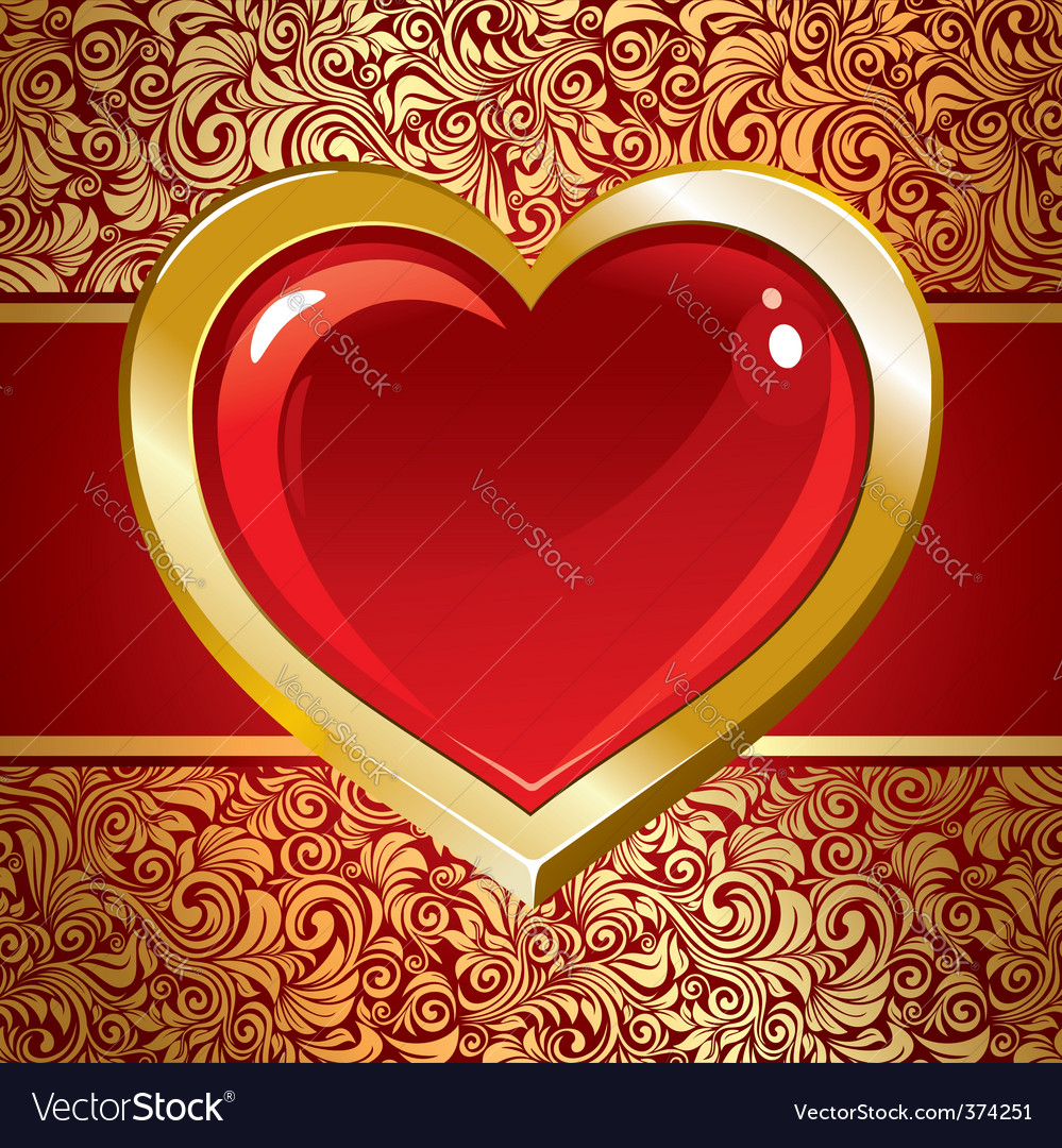 Beautiful background on valentines day vector | Price: 1 Credit (USD $1)
