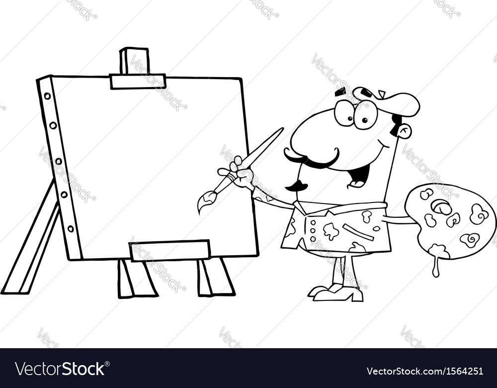 Cartoon artist vector   Price: 1 Credit (USD $1)