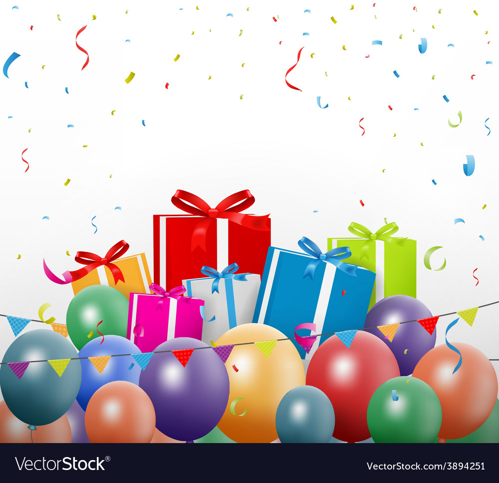 Colorful birthday background vector   Price: 3 Credit (USD $3)