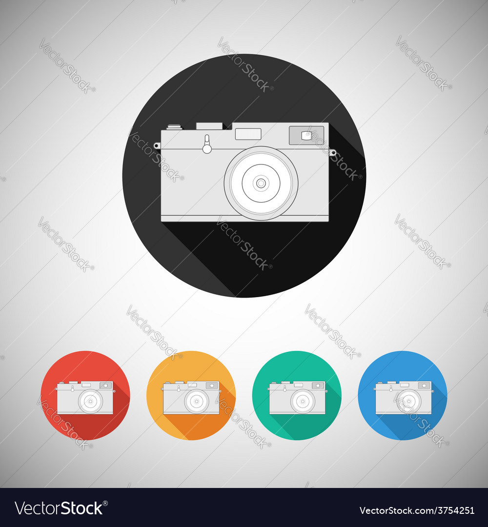 Film camera icon on round background vector | Price: 1 Credit (USD $1)