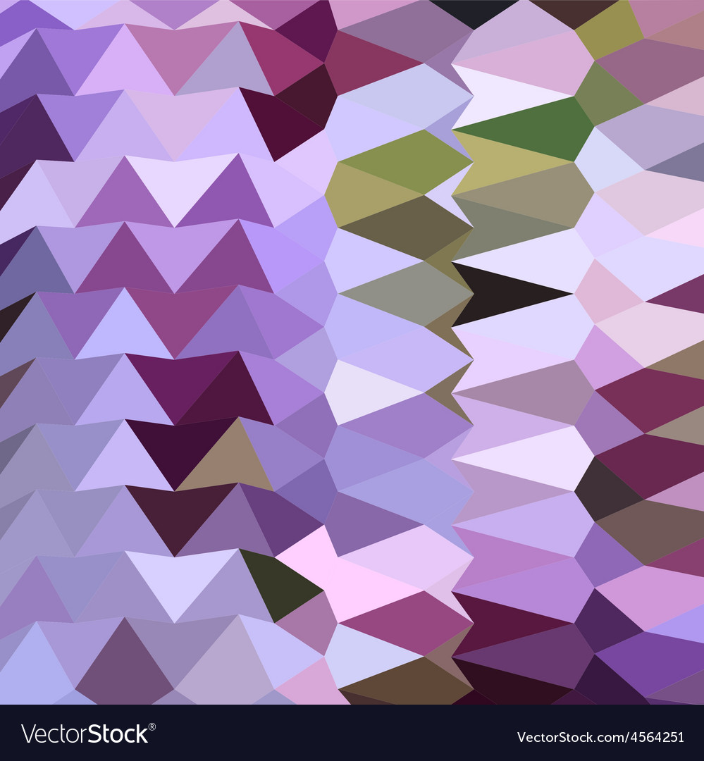 Floral lavender abstract low polygon background vector